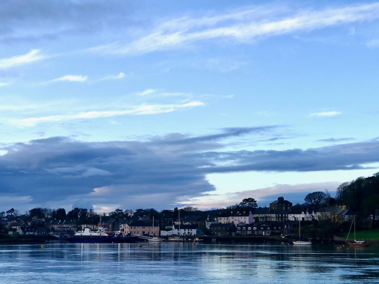 Strangford Lough and town from the ferry