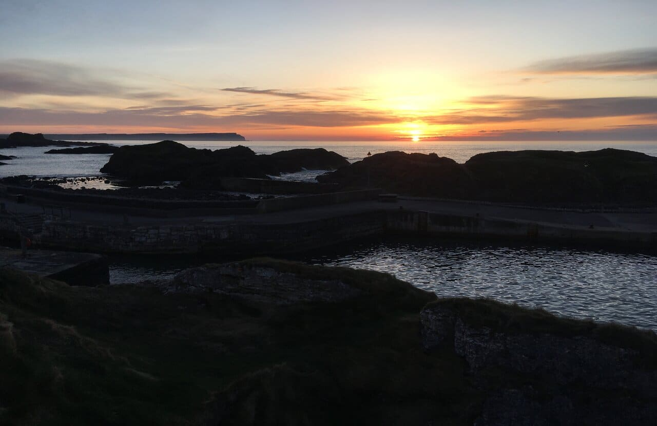 Ballintoy Harbour Sunset Andrea Spencer