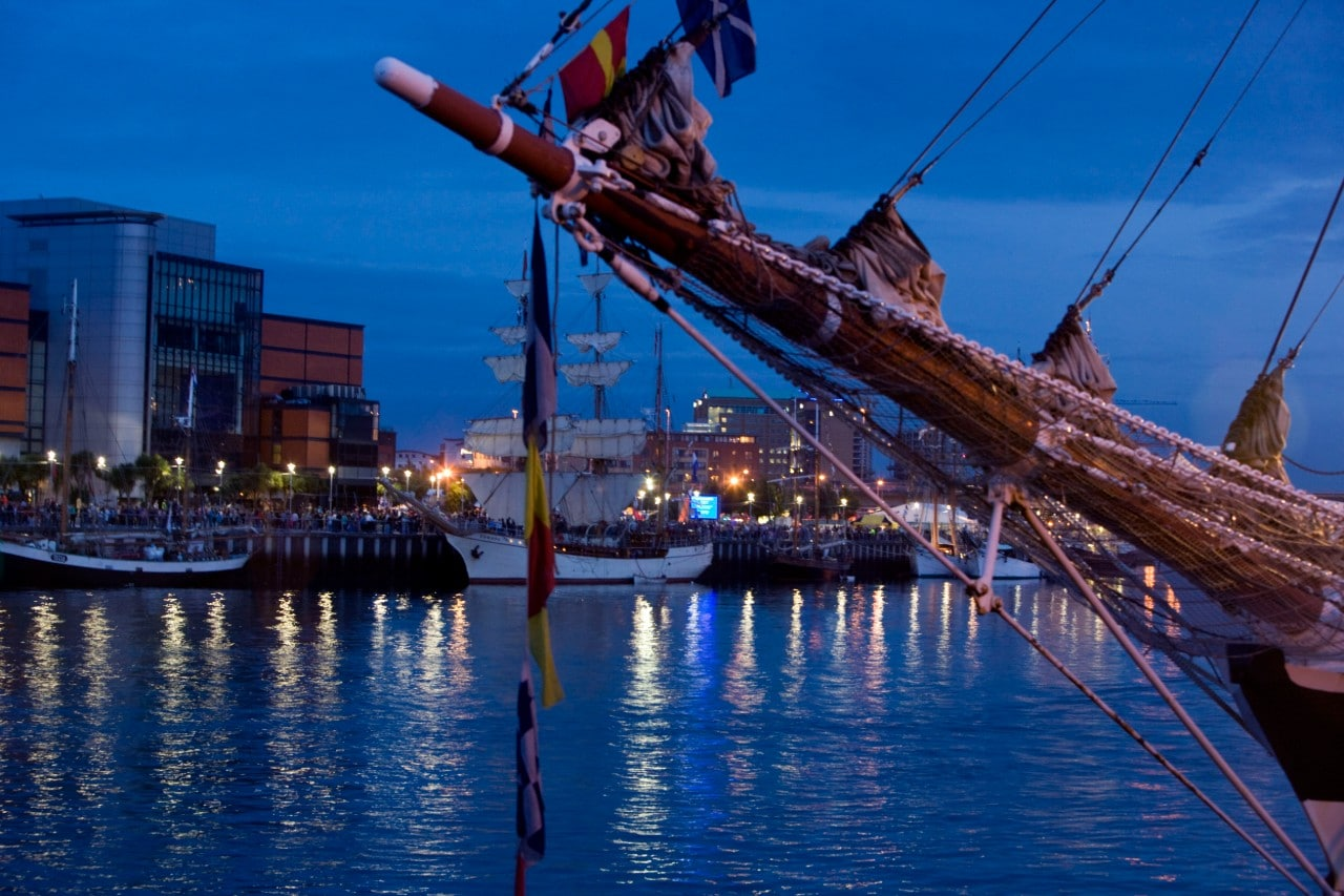 Belfast with author Jan Carson Tall Ships 2009