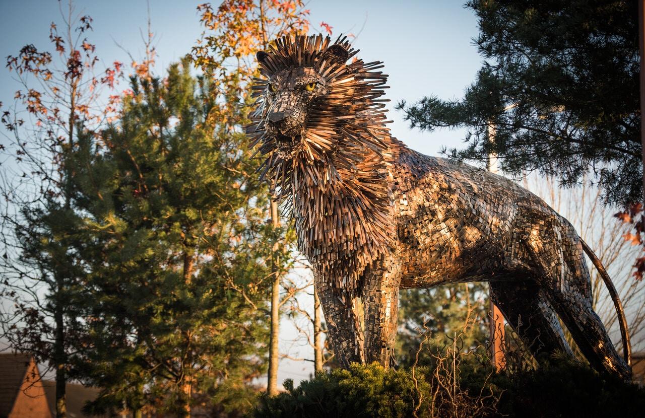 Aslan Sculpture from Narnia Jan Carson