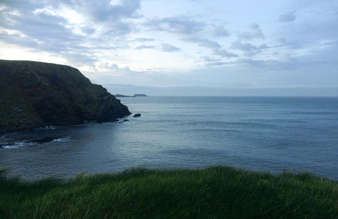Coast by Dunseverick Northern Ireland with Emma Thorpe