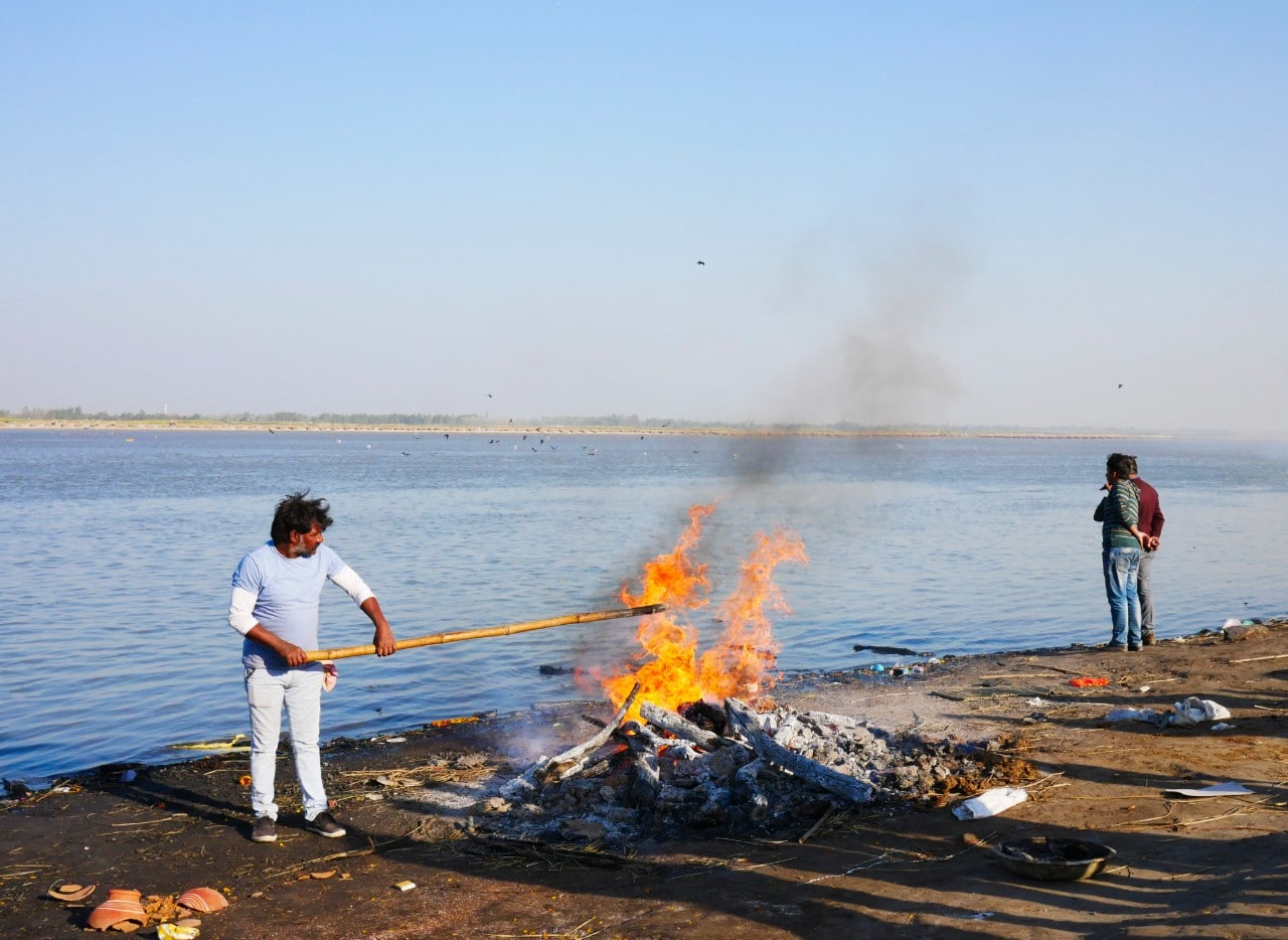 Cremation at the Ganges in India Malachi O'Doherty