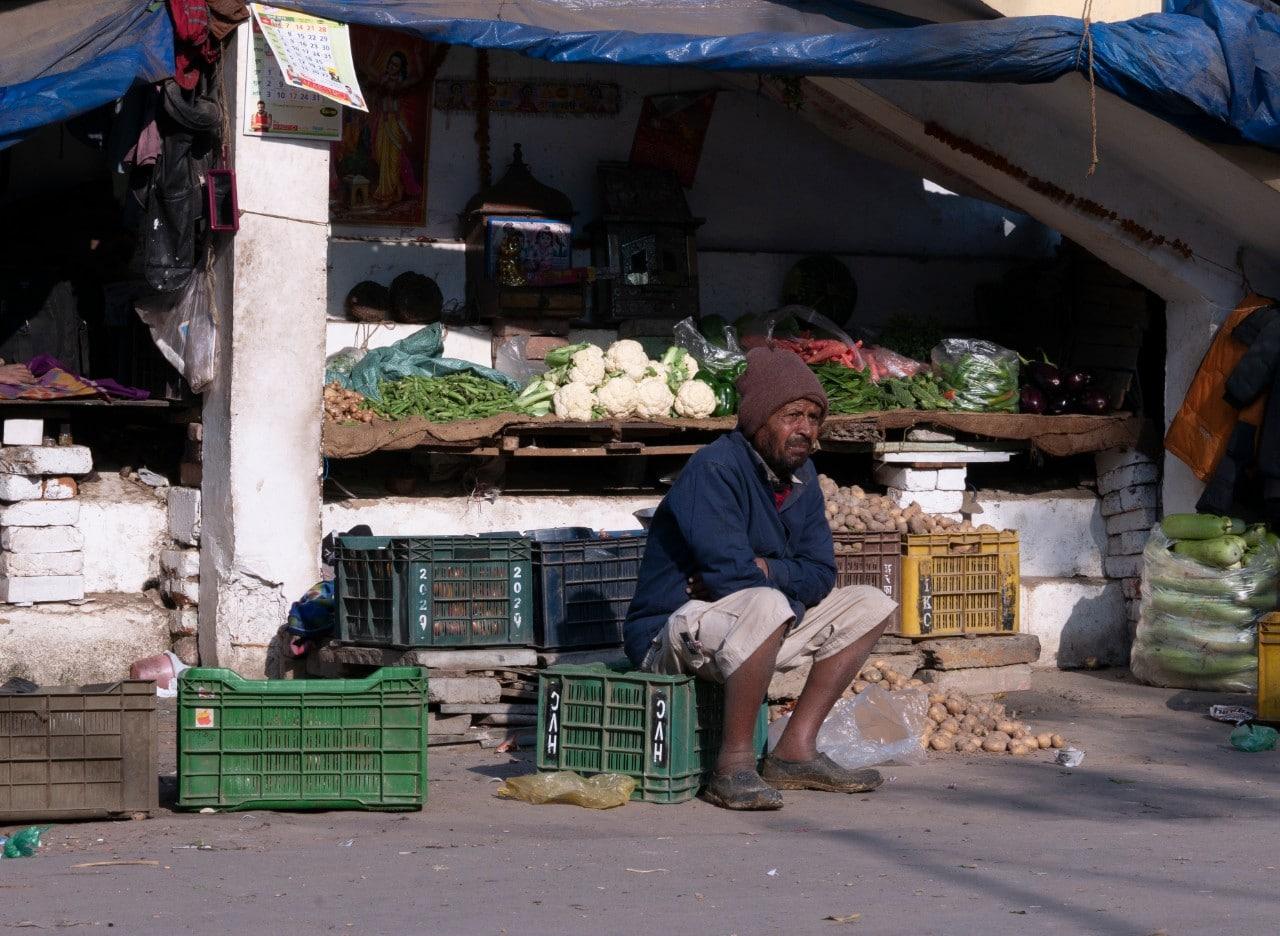 Market stall in India Malachi O'Doherty