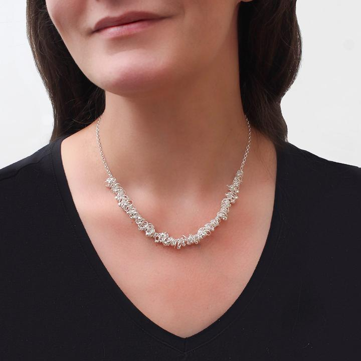 Northern ireland creatives sea oak necklace by Emma thorpe Atlantic Rose