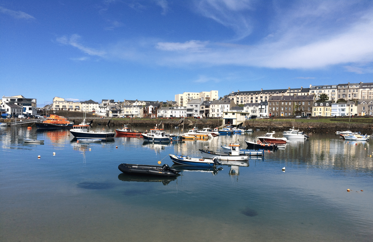Portrush Harbour Northern Ireland with Emma Thorpe