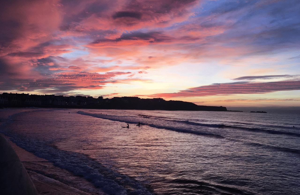Portrush sunset Northern Ireland with Emma Thorpe