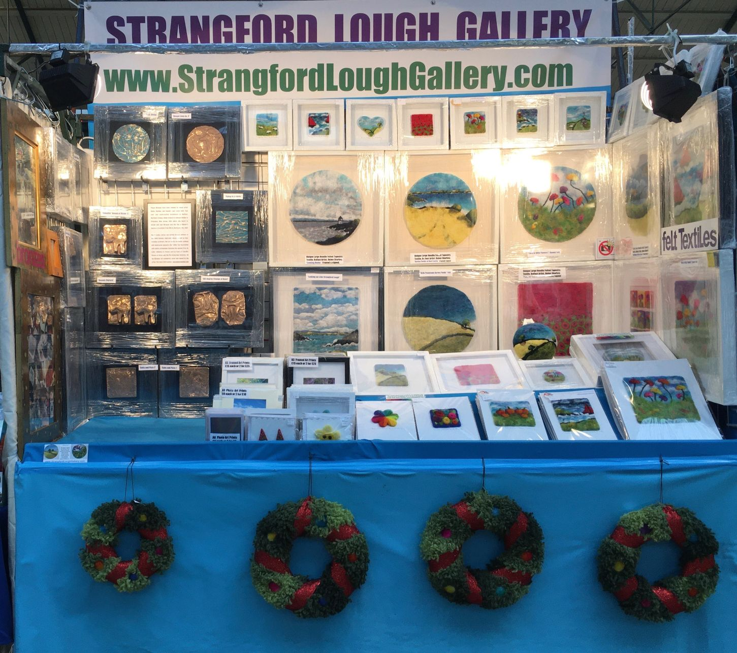 Strangford Lough Gallery at St. George's Market, Belfast, NI. Oct 2020