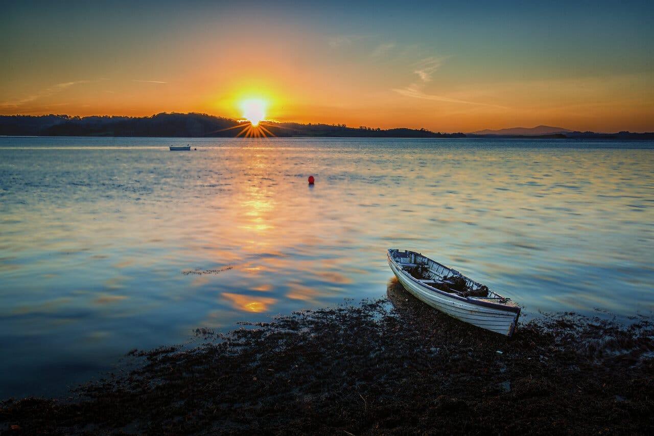Sunset at Strangford Lough