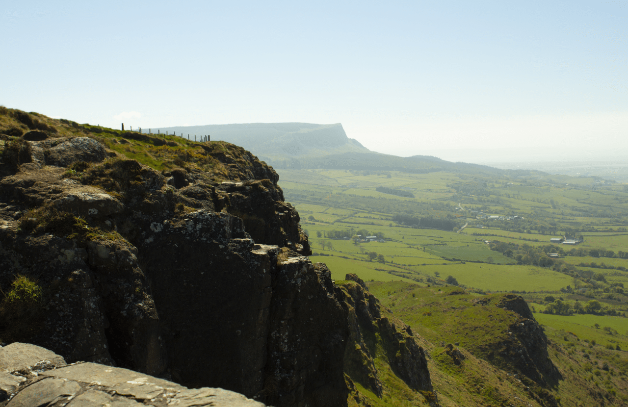 View from Benevenagh Northern Ireland with Emma Thorpe