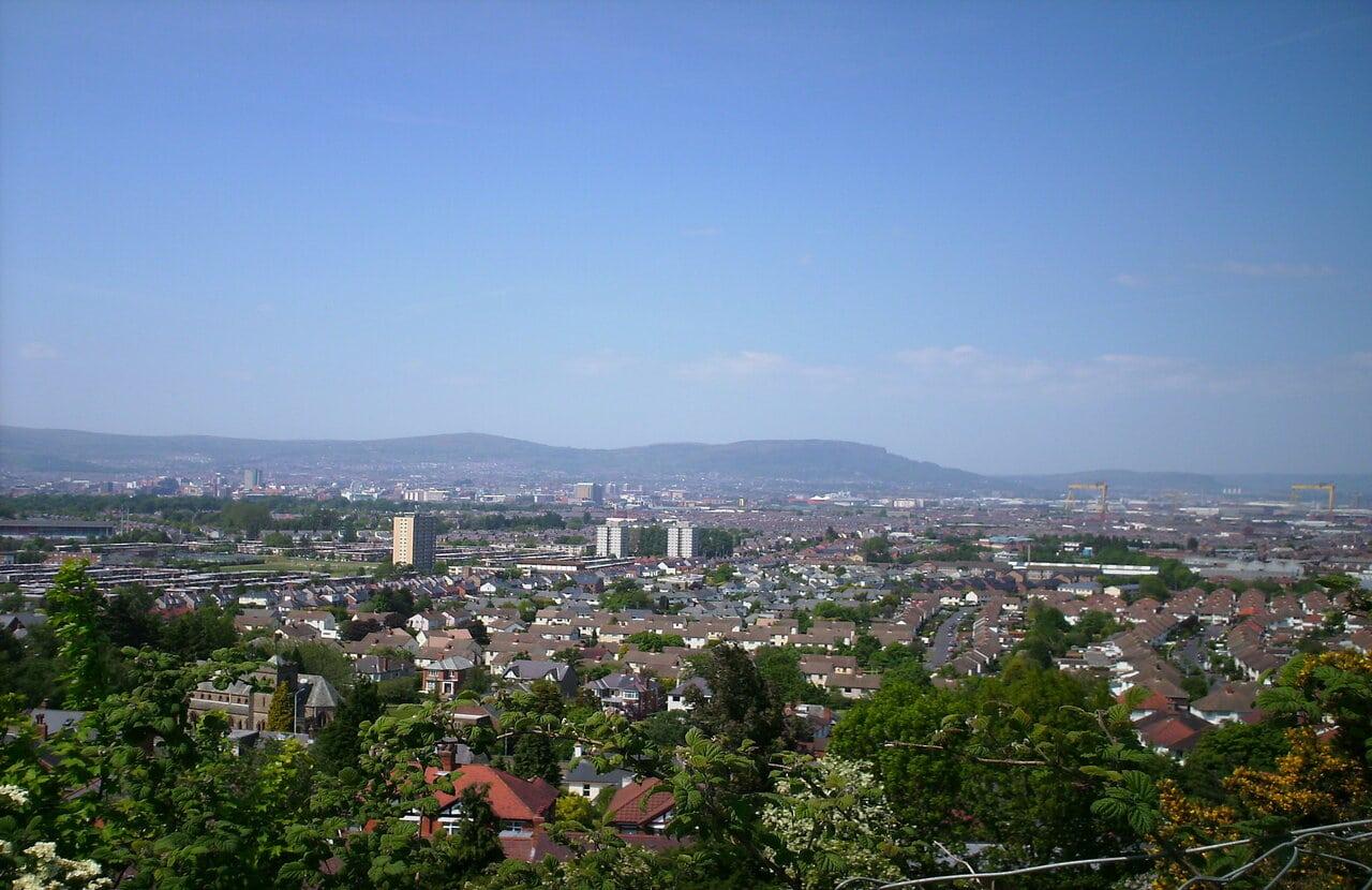 View of East Belfast.