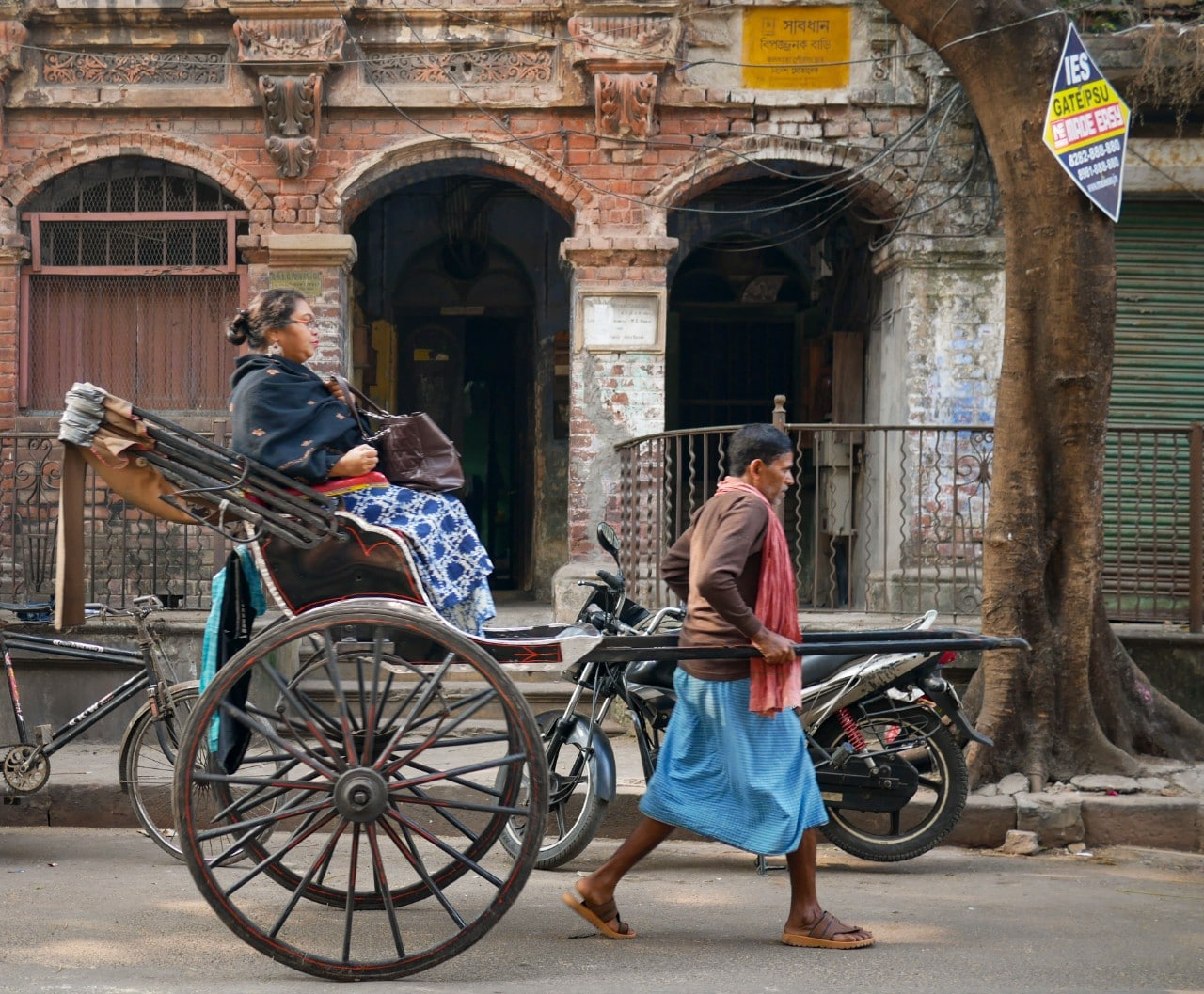 Woman on Rickshaw in India Malachi O'Doherty