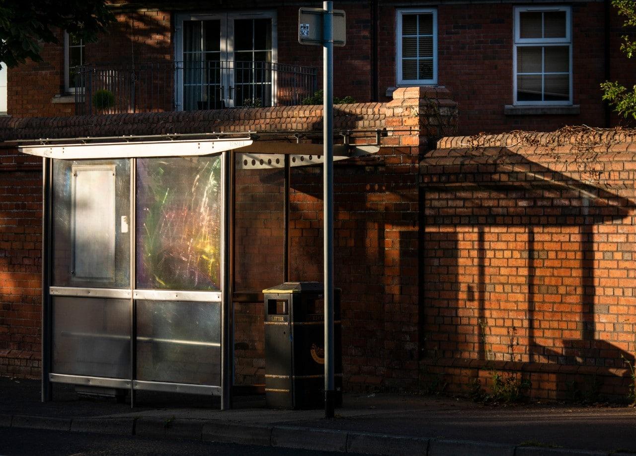 Bus shelter Belfast Malachi O'Doherty