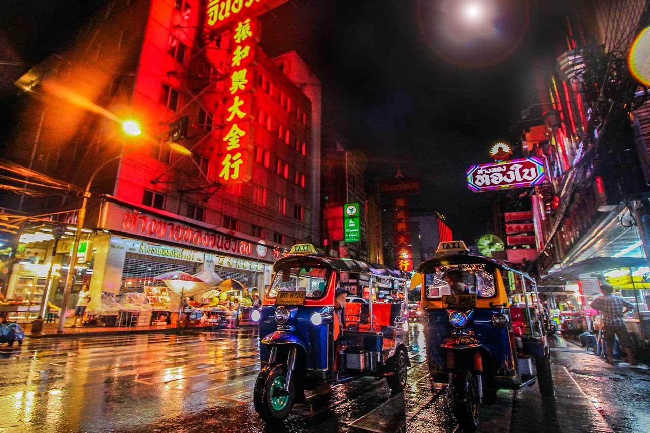 Bangkok City in Night Life
