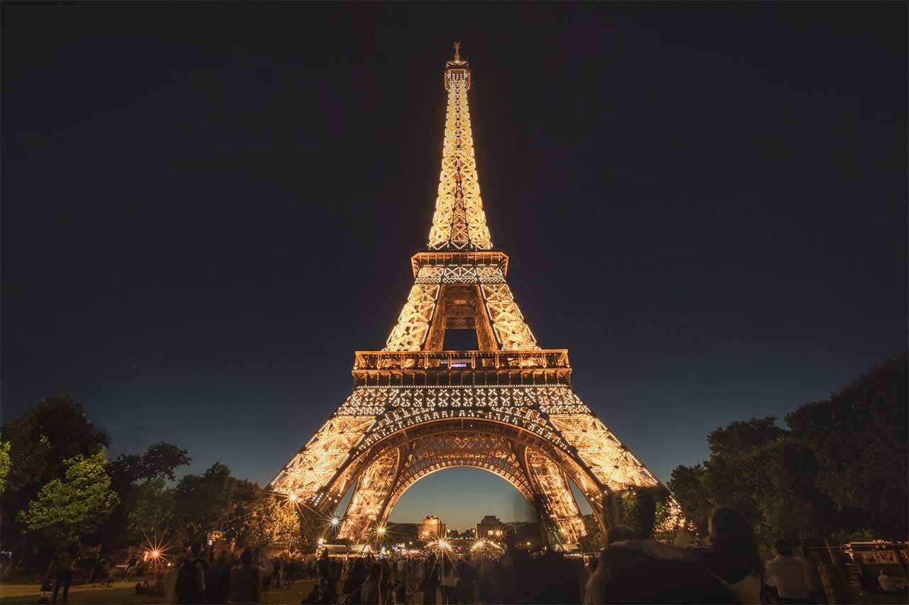 Paris City in Night Life