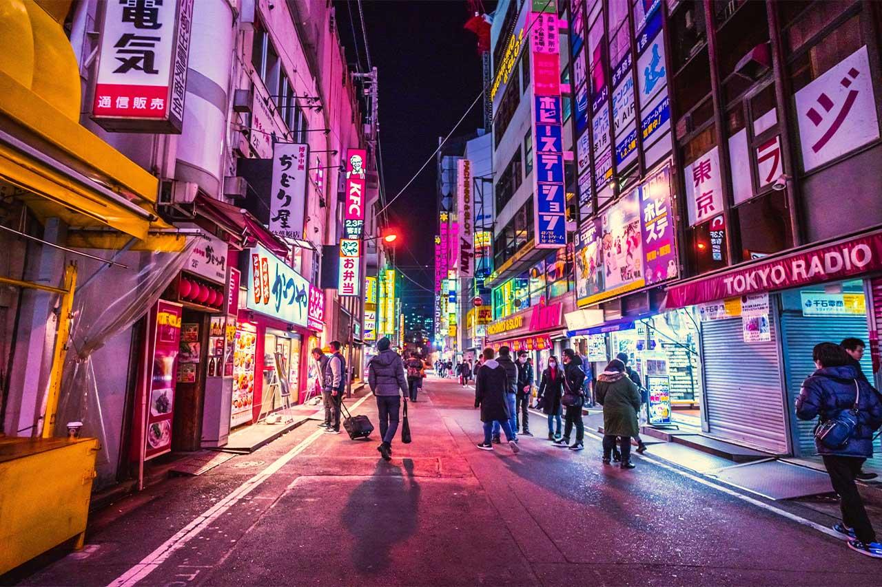 Tokyo City in Night Life